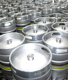 Italian beer kegs manufacturer, Supermonte produces pressurized kegs in stainless steel according to the international standards to supply worldwide distributors and beer manufacturers, DIN standard beer kegs, EURO standard beer kegs and engineering customized kegs in stainless steel respecting food and ISO standards for quality and global environment