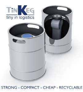 Tinkeg is the new keg solution designed and manufactured, by Supermonte group, to the beer making industries easy to move, transport, cheap, great technical specs, very strong, compact and recyclable, the very best Tin Keg for beer manufacturers. Supermonte keg engineering and development department presents the tin keg to the beer worldwide industry during Nuremberg Fair